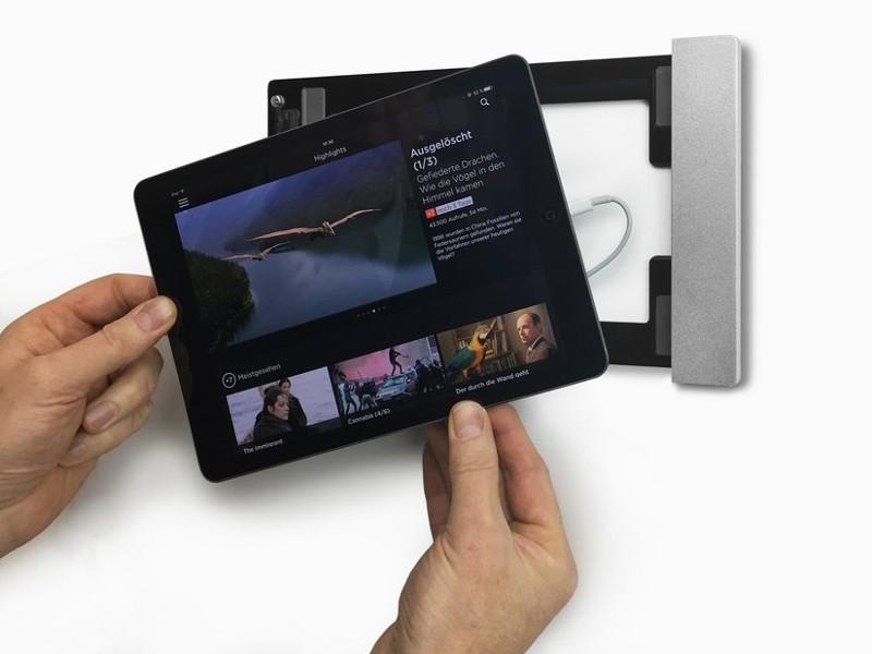 smart things ipad wandhalterung sdock fix air silber. Black Bedroom Furniture Sets. Home Design Ideas