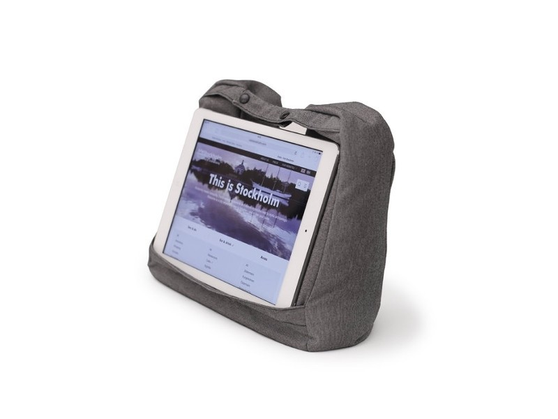 Bosign 2-in-1 Reise Tablet Kissen, grau