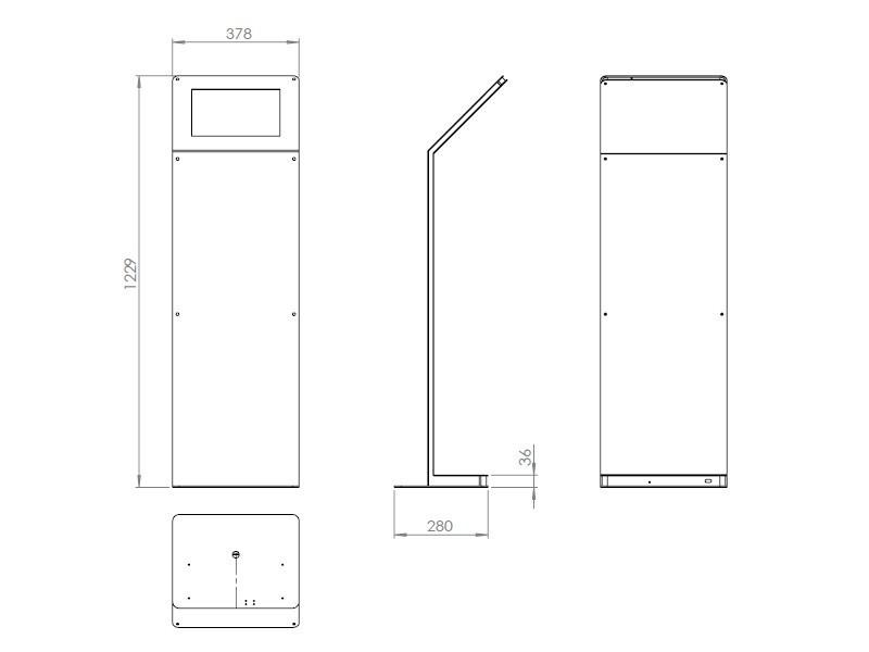 tablines tbs043 tablet bodenst nder mit akku ipad pro 12 9. Black Bedroom Furniture Sets. Home Design Ideas